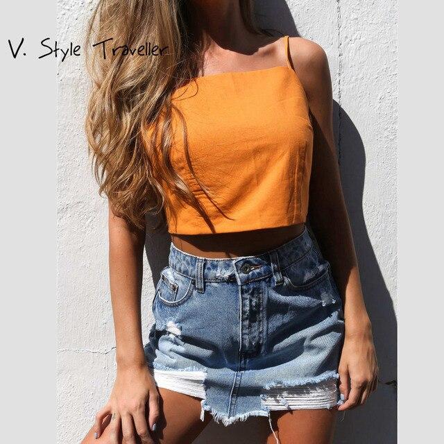 724da566571 Summer Style Camis Crop Top Women Beach Wear Bow Cropped White Blouse  Casual Sexy Shirt ropa