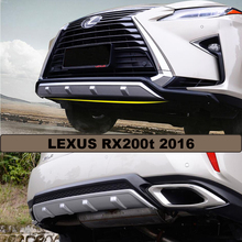 RX200t Bumper Protector Guard Skid Plate For LEXUS RX200t 2016.High Quality Brand New ABS Front+Rear Bumpers Car Accessories