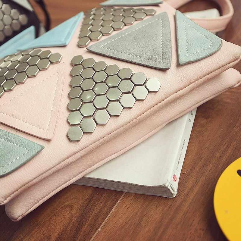 2017 расшитая блестками Лоскутная сумка роскошная сумка дизайнерская сумка женская известная брендовая Сумка-конверт с заклепками женская сумка-мессенджер