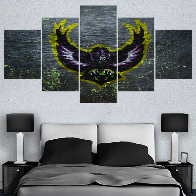 New Sport Baltimore Ravens Logo Paintings Wall Art Home Decor Picture Canvas Painting Calligraphy For Living Room Bedroom