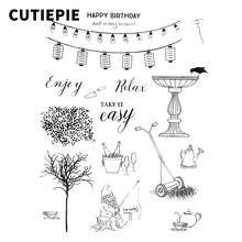 цена на Take It Easy Fishing Man Transparent Clear Rubber Stamps for Scrapbooking DIY Photo Album Card Embossing Maker Decorative Sheets
