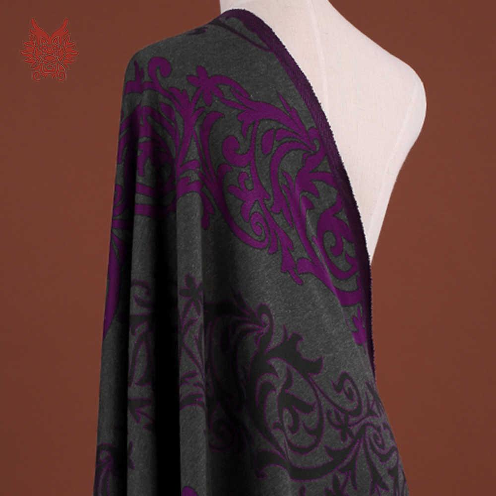 Американский стиль классический цветочный жаккардового трикотажного полотна для платье пальто стрейч жаккардовые ткани для шитья ткани тела tejido SP3920