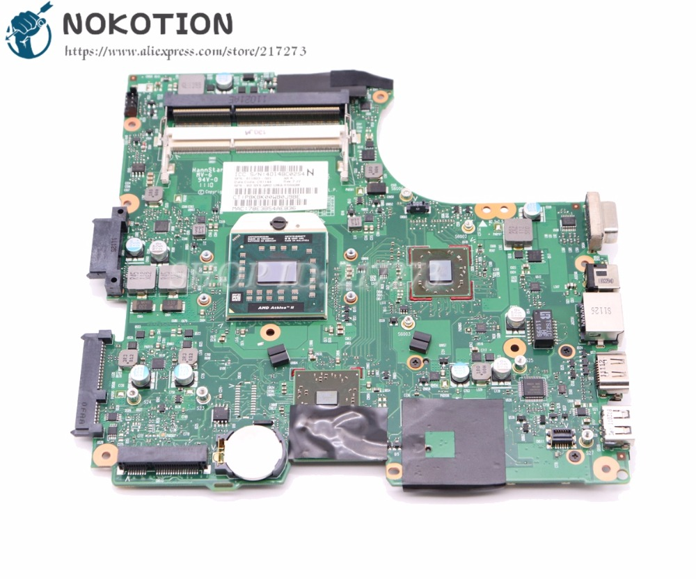 NOKOTION 611803-001 For Hp Compaq 625 325 CQ325 Laptop Motherboard RS880M DDR3 Socket S1 With Free CPU