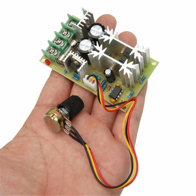 1 pc tout nouveau Module de contrôleur de régulateur de vitesse de moteur 20A DC 10-60 V 1200 W PWM