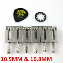 1 tk STAINLESS STEEL HIGH MASS BRIDGE SADDLES 10.8MM Stratocaster Tremolo sillad