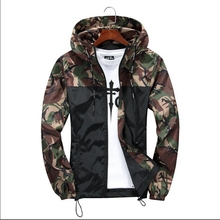 B Plus Size XS-5XL New Military Camouflage Jacket Men Long Sleeve Hooded Hip Hop Streetwear Classic Casual