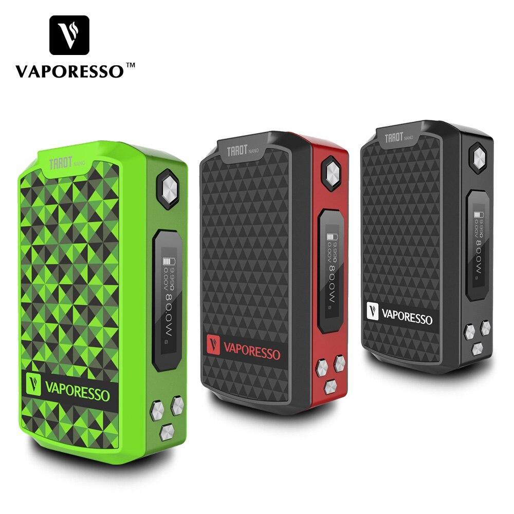 E-Cigarette Mod D'origine 80 W Vaporesso Tarot Nano TC Boîte MOD built-in 2500 mAh Batterie pour VECO EUC Réservoir Tarot Nano Vaporisateur Mod
