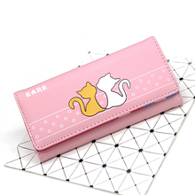 BOTUSI Carton Cat Women Wallet Purse Female Long Wallets Coin Purses Card Holder Clutch Ladies Pu Carteras Thin Money Bag