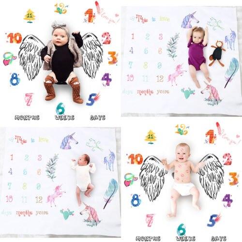 FleißIg Neugeborenen Kinder Anzahl Einhorn Milestone Decke Fotografie Foto Prop Schießt