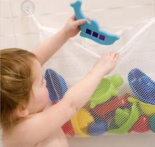 Creative Folding Eco-Friendly  Kids Baby Bathroom Mesh Bag Child Bath Toy Storage Bag Organiser Net Suction Baskets