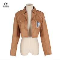 Free Shipping Attack On Titan Jacket Shingeki No Kyojin Scouting Legion Cosplay Costume Embroidery Jacket Coat