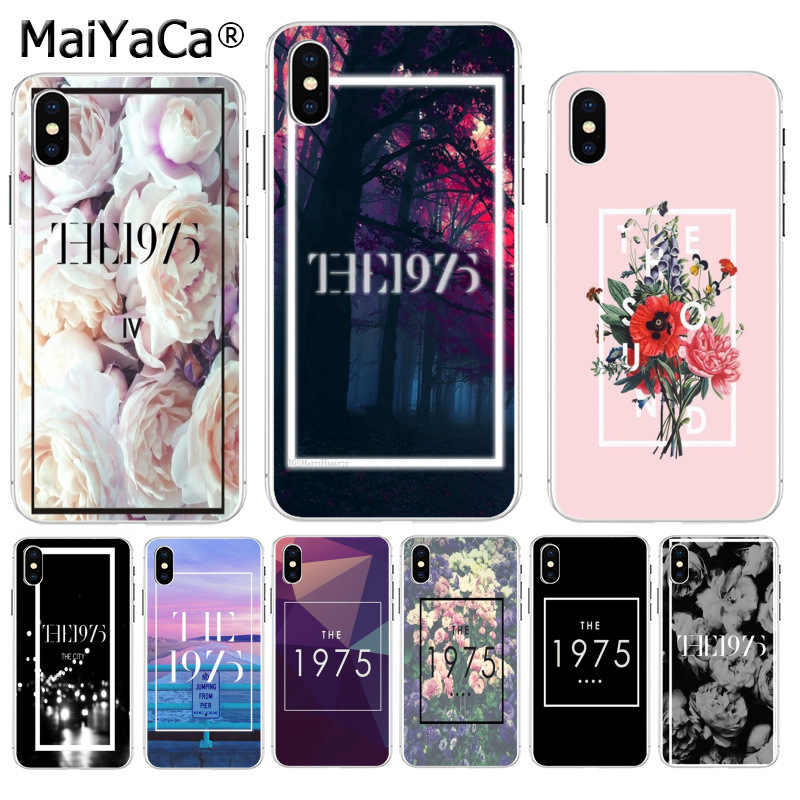 Maiyaca 1975 Band Cute Aksesoris Case untuk Apple Iphone 8 7 6 6S Plus X XS Max 5 5S SE XR Cover