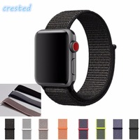 CRESTED Woven Nylon Sport Loop Strap For Apple Watch Band Wrist Braclet Belt Fabric Like Nylon