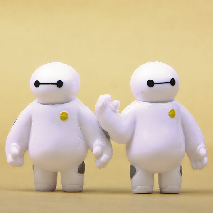 Big Hero 6 Baymax Vinyl Doll Anime Mini PVC Action Figures Robot Model Toy Set Kids Toys Gift For Boys Children Girls neca assassins creed 3 connor the hunter figurine classic game pvc action figures juguetes doll kids hot toys for children men