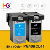 1BK+1color PG 40 CL 41 PG40 CL41 Ink Cartridge For Canon Pixma MP140 MP150 MP160 MP180 MP190 MP210 MP220 MP450 MP470 printer