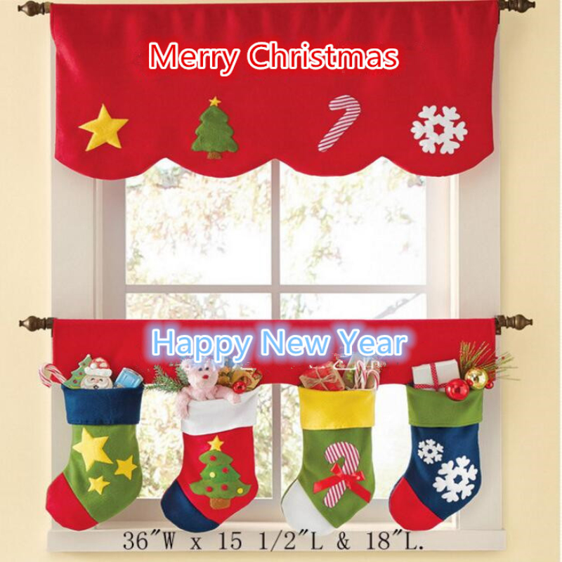 Modern fashion merry christmas decorations door curtains for Sia home fashion christmas decorations