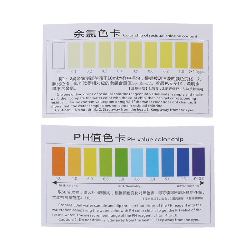 Free Postage Practical Ph A2o Water Ph Oto Dual Test Kit With Test Card For 100-125 Tests Ju05 Drop Shipping Analyzers