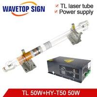 Tongli лазерной трубки 50 Вт Длина 800 мм Dia.50mm + лазерная Питание HY T50 50 Вт для лазерной гравировки и резки
