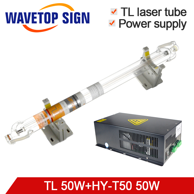 Tongli Laser Tube 50W Length 800mm Dia.50mm + Laser Power Supply HY-T50 50W For Laser Engraving & Cutting Machine