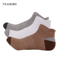 VEAMORS 3 Pairs Lot Men S Cotton Ankle Socks High Quality Foot Absorb Sweat Anti