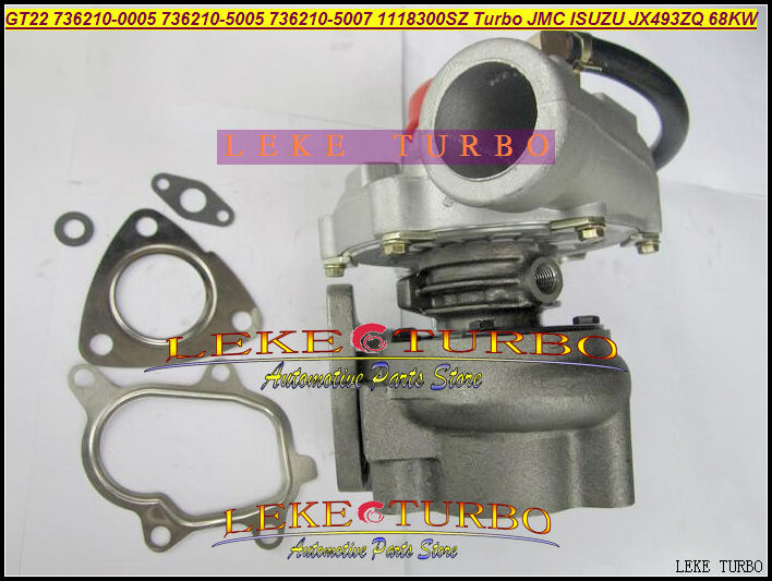 GT22 736210-5003 736210-0003 736210 5003 736210 0003 736210 1118300SD Turbo Turbine Turbocharger For ISUZU For JMC JX493ZLQ 68KW gt2556s 711736 711736 0003 711736 0010 711736 0016 711736 0026 2674a226 2674a227 turbo for perkin massey 5455 4 4l 420d it