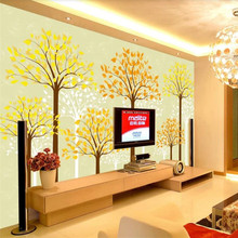 Custom wallpaper fantasy tree TV background wall painting high quality material waterproof