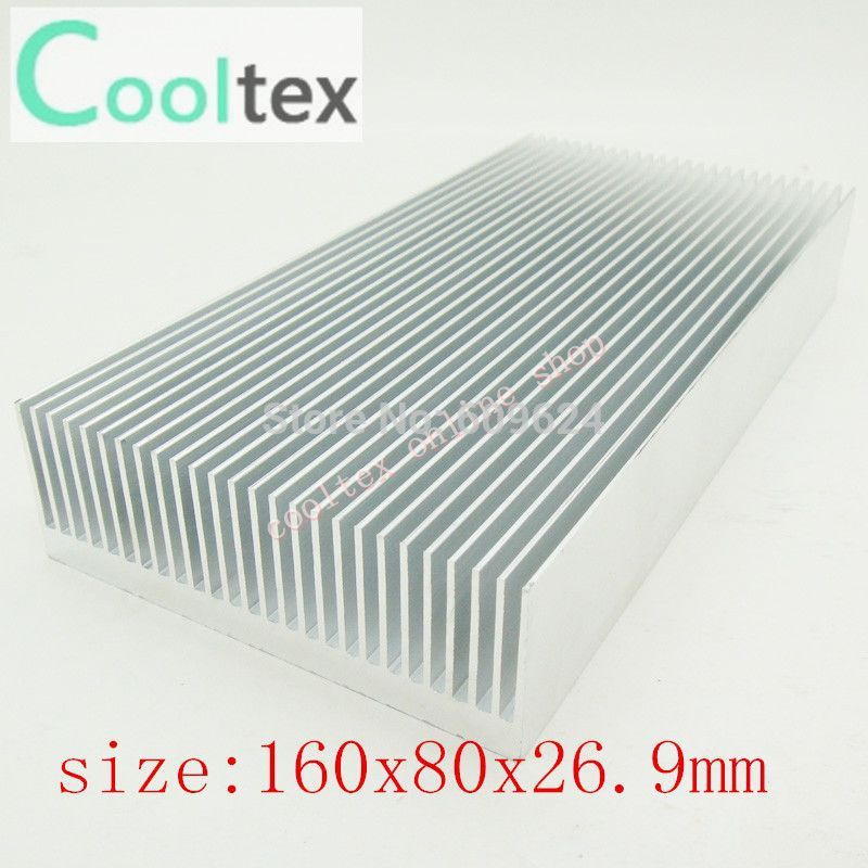160x80x26.9mm  Aluminum HeatSink,radiator,Chip CPU GPU VGA RAM LED IC Heat Sink ,COOLER,cooling 10pcs lot ultra small gvoove pure copper pure for ram memory ic chip heat sink 7 7 4mm electronic radiator 3m468mp thermal