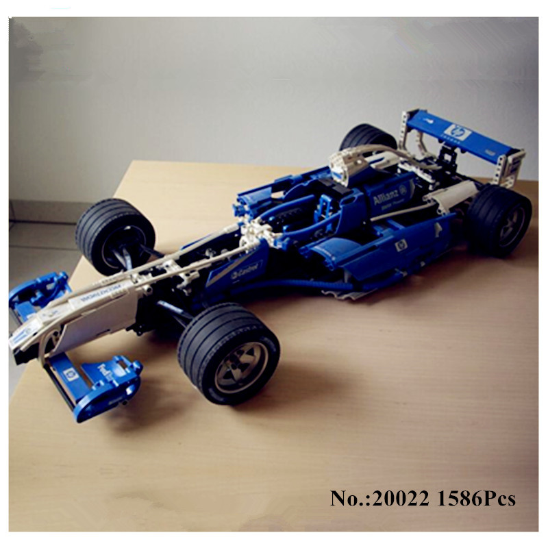 H&HXY IN STOCK 20022 1586Pcs Genuine Technic Series The Williams F1 Team Racer Set Lepin Building Blocks Bricks Toy Model