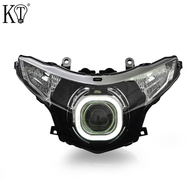 KT Headlight For Honda CBR250R 2011 2016 LED Angel Eye