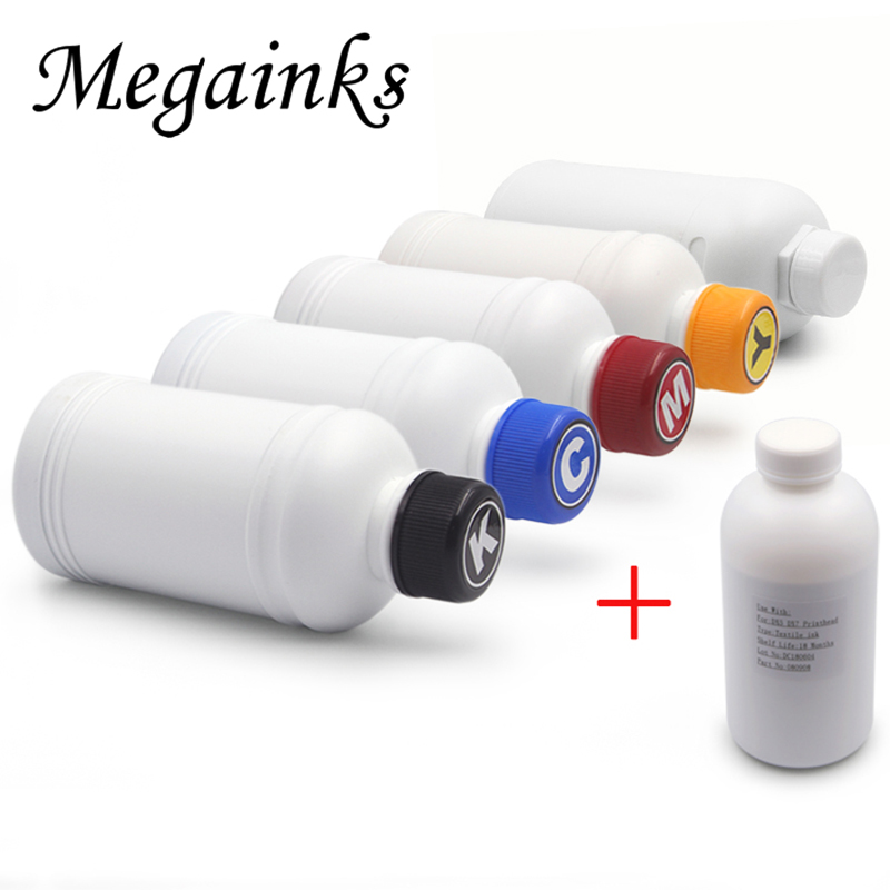 250ML Digital White Textile Ink for DX3 DX4 DX5 DX6 DX7 Printhead for Roland for Mimaki for Mutoh Flatbed Inkjet Printer DTG Kit 5 pcs 250ml digital textile ink for roland mimaki mutoh dx2 dx4 dx5 dx6 dx7 printhead desktop