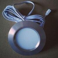 3 W светодиодный под лампы для контуража круглый Форма шайбу лампы кухонная мебель шкаф книжная полка гардероба освещения лампы для витрины