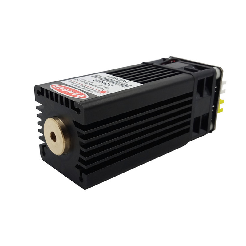 Powerful 450nm 5.5W <font><b>15000mW</b></font> blue <font><b>laser</b></font> module DIY <font><b>laser</b></font> head for CNC <font><b>laser</b></font> engraving machine and <font><b>laser</b></font> cutter with PWM image