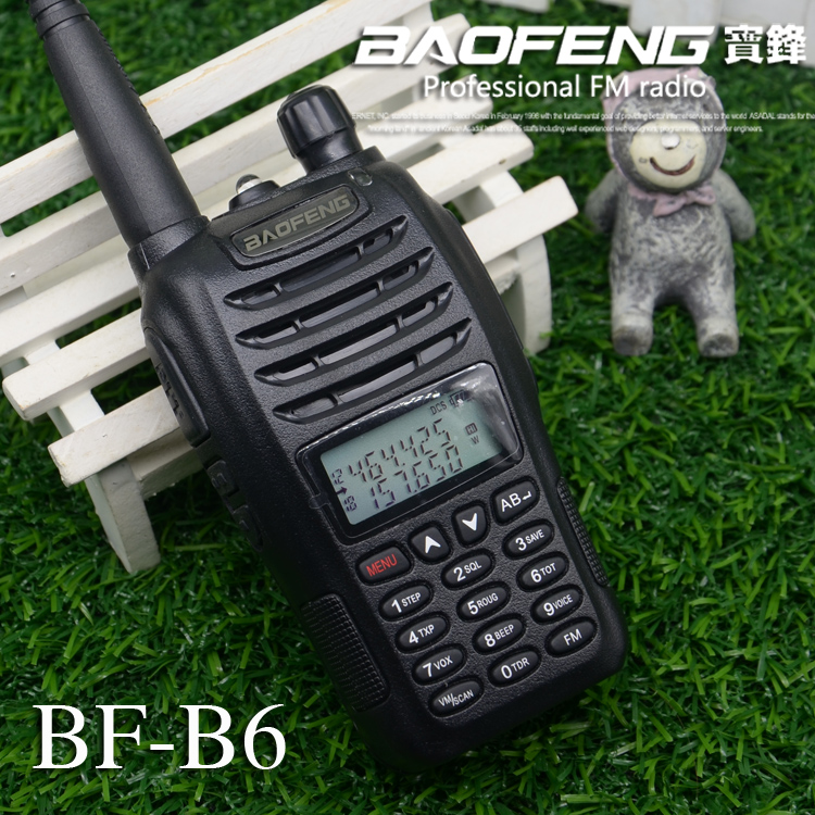 Imported From Abroad Baofeng Uv B6 Police Walkie Talkie Dual Band Vhf And Uhf Ham Radio Hf Transceiver For 2 Way Radio Midland Handheld Hand Famous For High Quality Raw Materials, Full Range Of Specifications And Sizes, And Great Variety Of Designs And Col