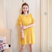 2019 new summer dresses for pregnant women chiffon dresses in the middle of pregnancy long out breastfeeding dress