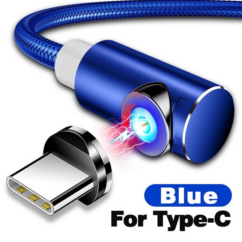 INIU 2 м Магнитный кабель Micro Тип usb C Зарядное устройство для зарядки для iPhone XS X XR 8 7 samsung S8 магнит Android телефонный кабель Шнур - Цвет: For Type C Blue