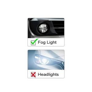 Image 3 - 2x H7 H8 H11 9005 9006 HB4 H16 30 W/50 W/80 W קרי שבבי LED רכב ערפל אור ערפל מנורת LED פנס בשעות היום Runing אור DRL 12 V