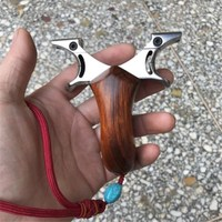 Flat rubber band Slingshot Titanium Steel Metal Stainless Steel Wire Cutting Super Clip Slingshot