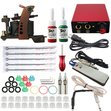 Beginner Tattoo Set Complete Equipment 1 Tattoo Machine Gun 2 color Inks Power Supply Cord Kit Body Beauty DIY Tools