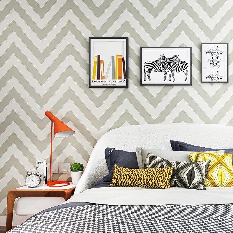 Nordique Abstrait Géométrique Papier Peint à Rayures Moderne Bleu Gris Behang Ligne de Pliage Mur Papier Roll Salon Home Decor mur peintures murales