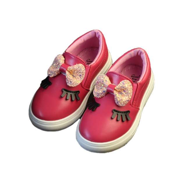 cute baby girl leather shoes lovely bowtie style PU leather shoes for 1-6yrs boys children kids party princess leather shoes hot