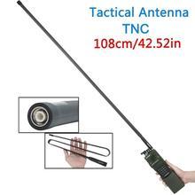 108 ซม./42.5 นิ้ว ABBREE TNC VHF UHF Dual Band พับได้ยุทธวิธีเสาอากาศสำหรับ Kenwood TK 378 Harris AN/ PRC 152 148 Walkie Talkie
