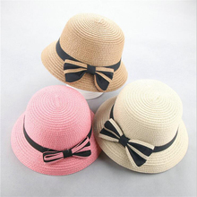 купить BINGYUANHAOXUAN 2019 New Summer Hat Kids Breathable Straw Hat Hat Kids Boy Girls Hats Outdoor Beach Sunhat Suit for 2-6 years дешево