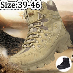 Winter Outdoor Men's Boots Tactical Work Boots Men Timber Land Military Desert Combat Shoes Tactical Boots Botas Mujer HH-031