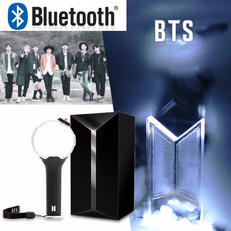 Original KPOP BTS Light Stick with Bluetooth connected to APP ARMY Concerts Glow Lamp Official Lightstick Light Sticks 7718G