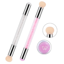 Rhinestone Handle Head And Silicone Stamper UV Gel Design Manicure Tool Double Composition Nail Art Pen