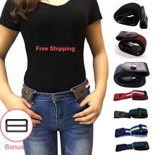 Buckle-Free Elastic Belt Buckle Free No Buckle Stretch Belt Women's Plus Belts for Jeans Pants Dresses