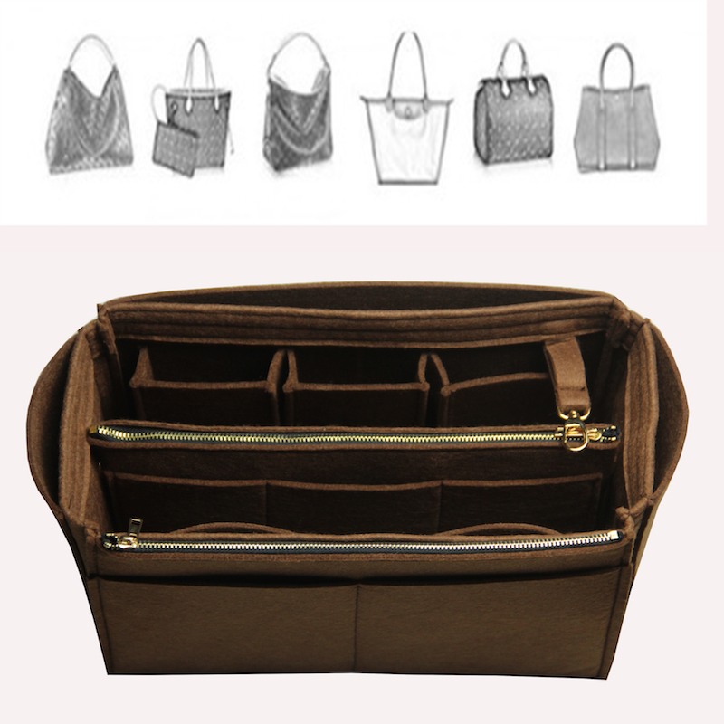 Neverfull Schnelle Exklusive Anpassbare Fühlte Handtasche Veranstalter Tasche In Tasche Tote Organizer (w/Abnehmbare Zip Tasche) einfügen Windel