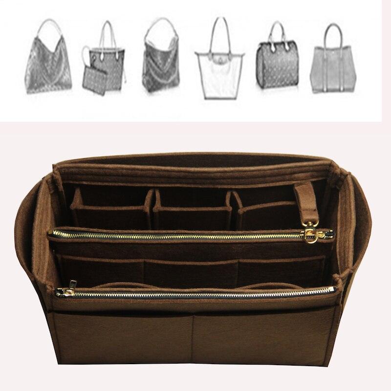Neverfull Speedy Exclusive Customizable Felt Handbag Organizer Bag In Bag Tote Organizer (w/Detachable Zip Pocket) Insert Diaper