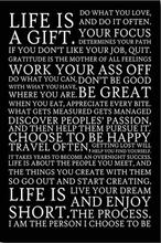 ENJOY YOUR LIFE - Motivational Inspirational Quotes Art Wall Decor Silk Print Poster