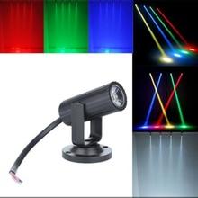 1 Вт Светодиодный светильник сценических эффектов со сменой цвета RGBW освещение точечный луч прожектор профессиональная DJ Дискотека KTV подсветка сценический свет